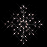 24 in. Outdoor Incandescent Clear Snowflake Lighted Display - 50 Bulbs