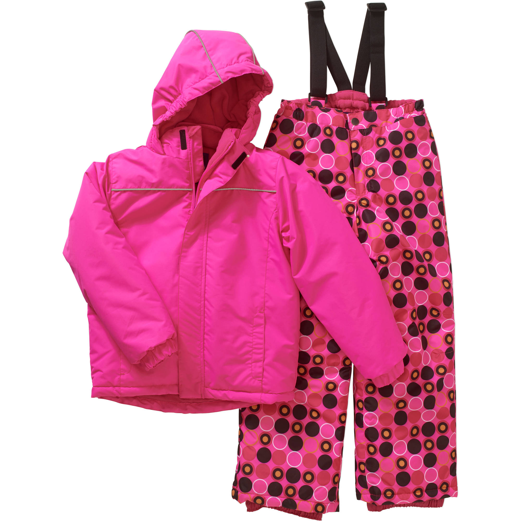 Iceburg Girls' Insulated Snow Day Jacket and Bib Suit Set