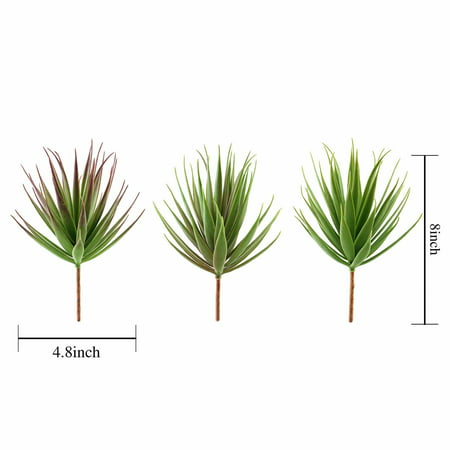 BalsaCircle 3 pcs 8-Inch Assorted Green Artificial Faux Aloe Succulent Picks Stems Wedding Home Arrangement Centerpieces Decorations](Wedding Succulents)
