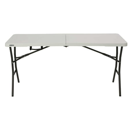 Lifetime 5' Essential Fold-in-Half Table, Pearl, 280513, Steel Frame