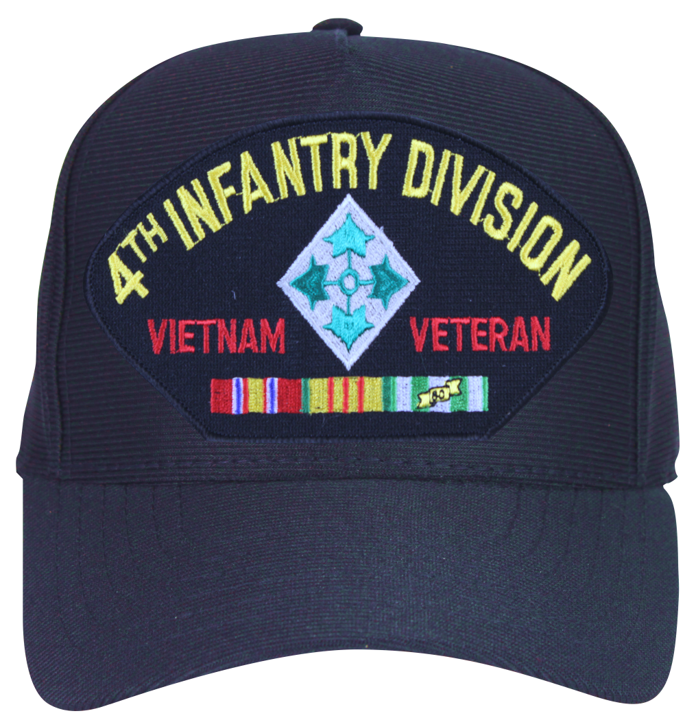 8338158f7c265 4th Infantry Division Vietnam Veteran with Patch and Ribbons Ball Cap -  Walmart.com