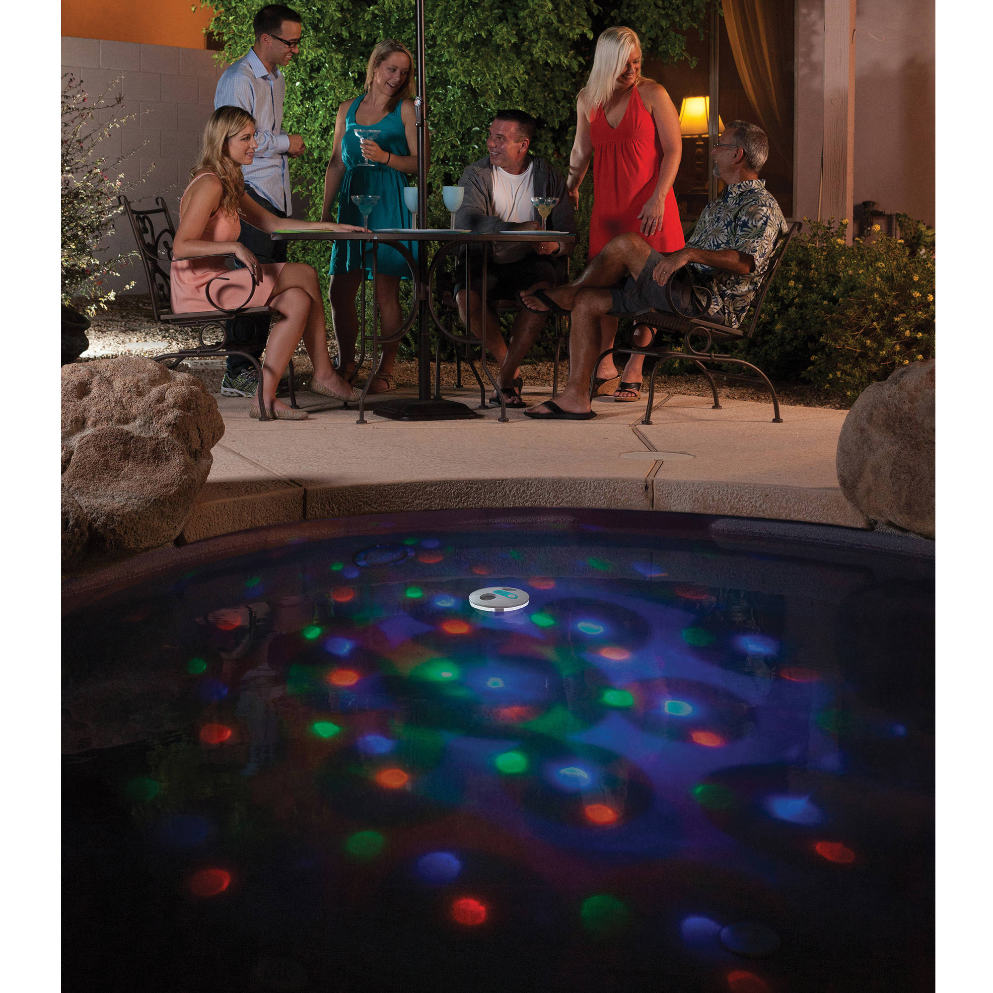 Solar powered swimming pool floating light solar floating light - Swim Time Solar Underwater Light Show Floating Pool Light Walmart Com