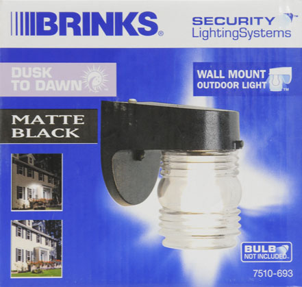 brinks jelly jar dusk to dawn activated security light