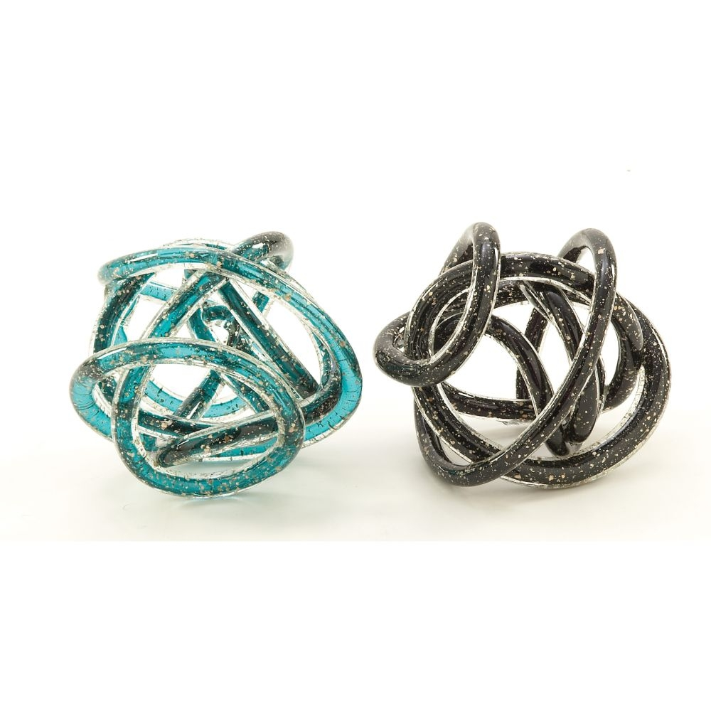 BENZARA 53078 Unique Glass Knot Assorted 2