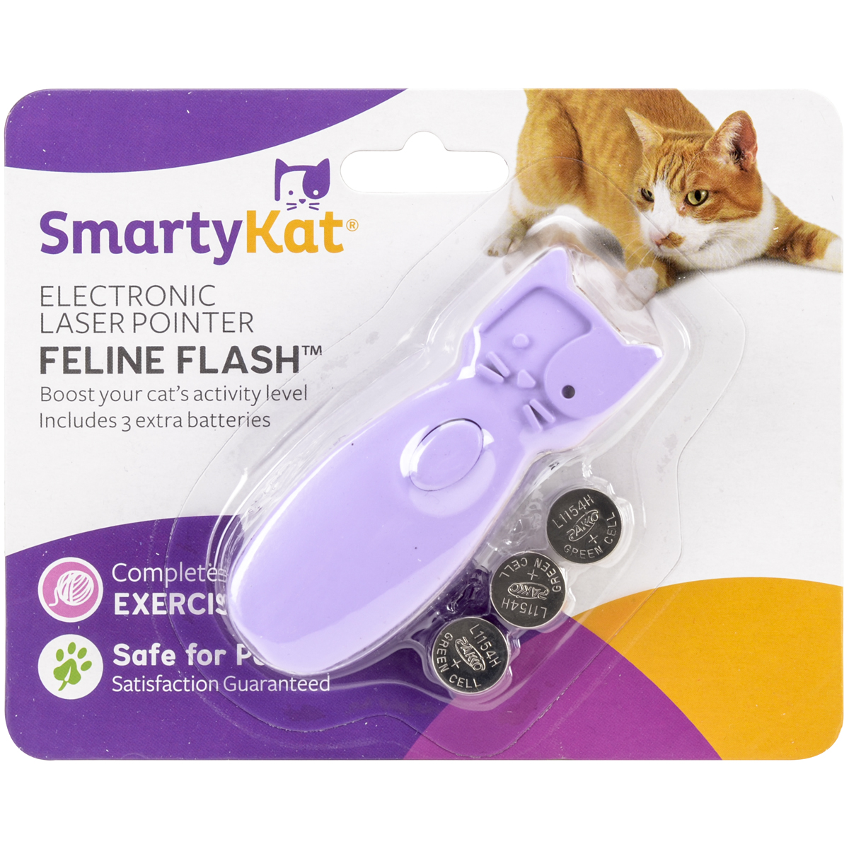 SmartyKat Feline Flash Electronic Laser Pointer Cat Toy