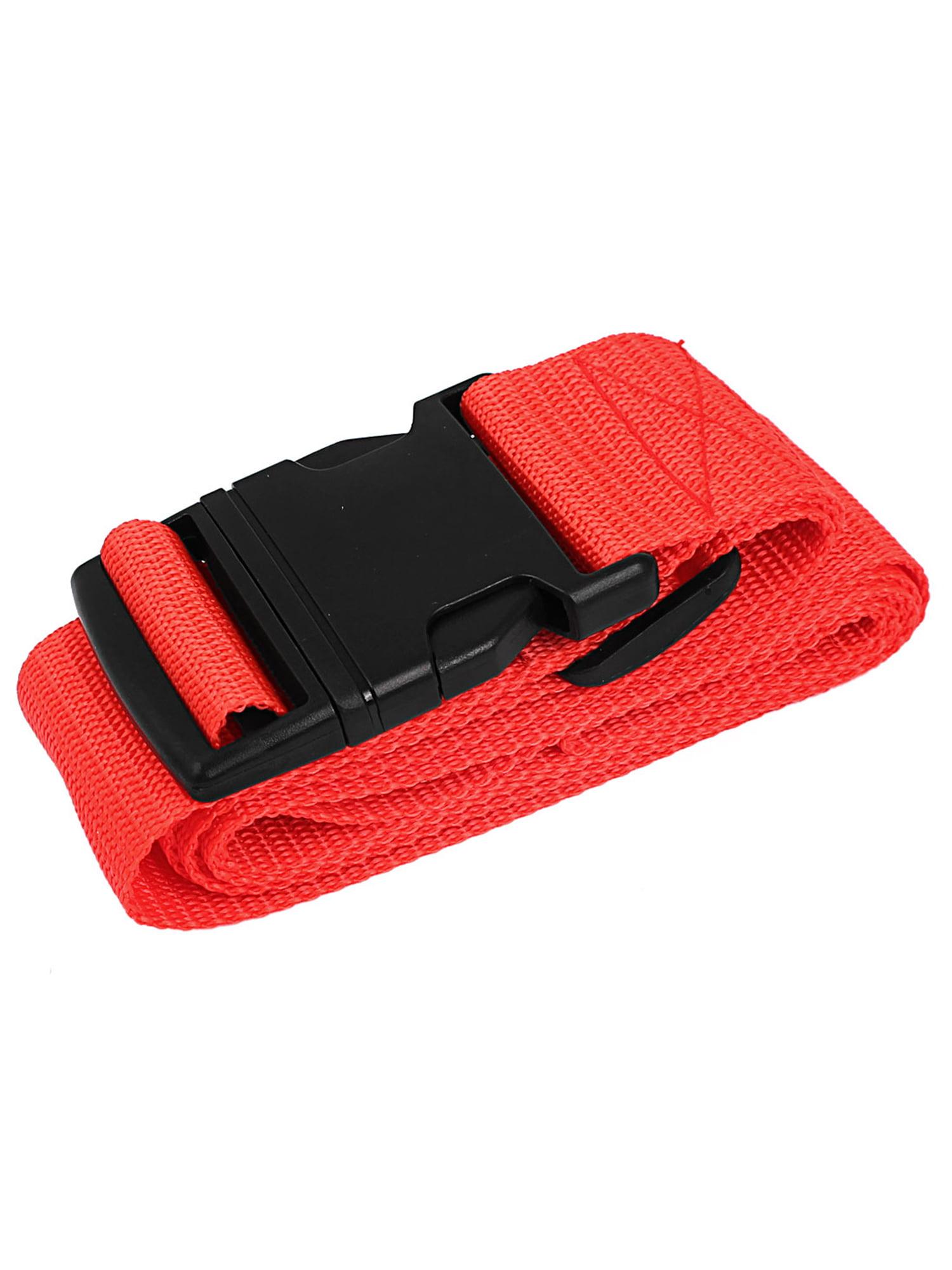 Travel Accessory Tag Pocket Buckle Strap Suitcase Luggage Belt Orange 2M Girth