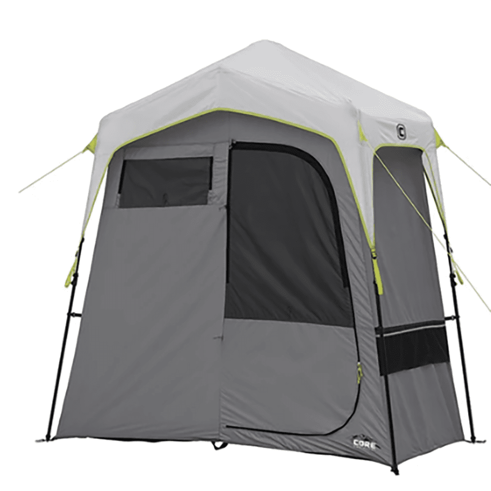 CORE Instant Camping 7 x 3.5-Foot 2-Room Utility Shower ...