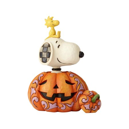 Jim Shore Peanuts 6000981 Snoopy And Woodstock Pumpkin 2018 - Snoopy Great Pumpkin