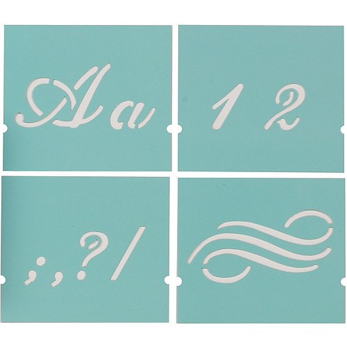 Martha Stewart Alphabet Stencil, 48-Pack, Fancy, Font Size 1-3/8""