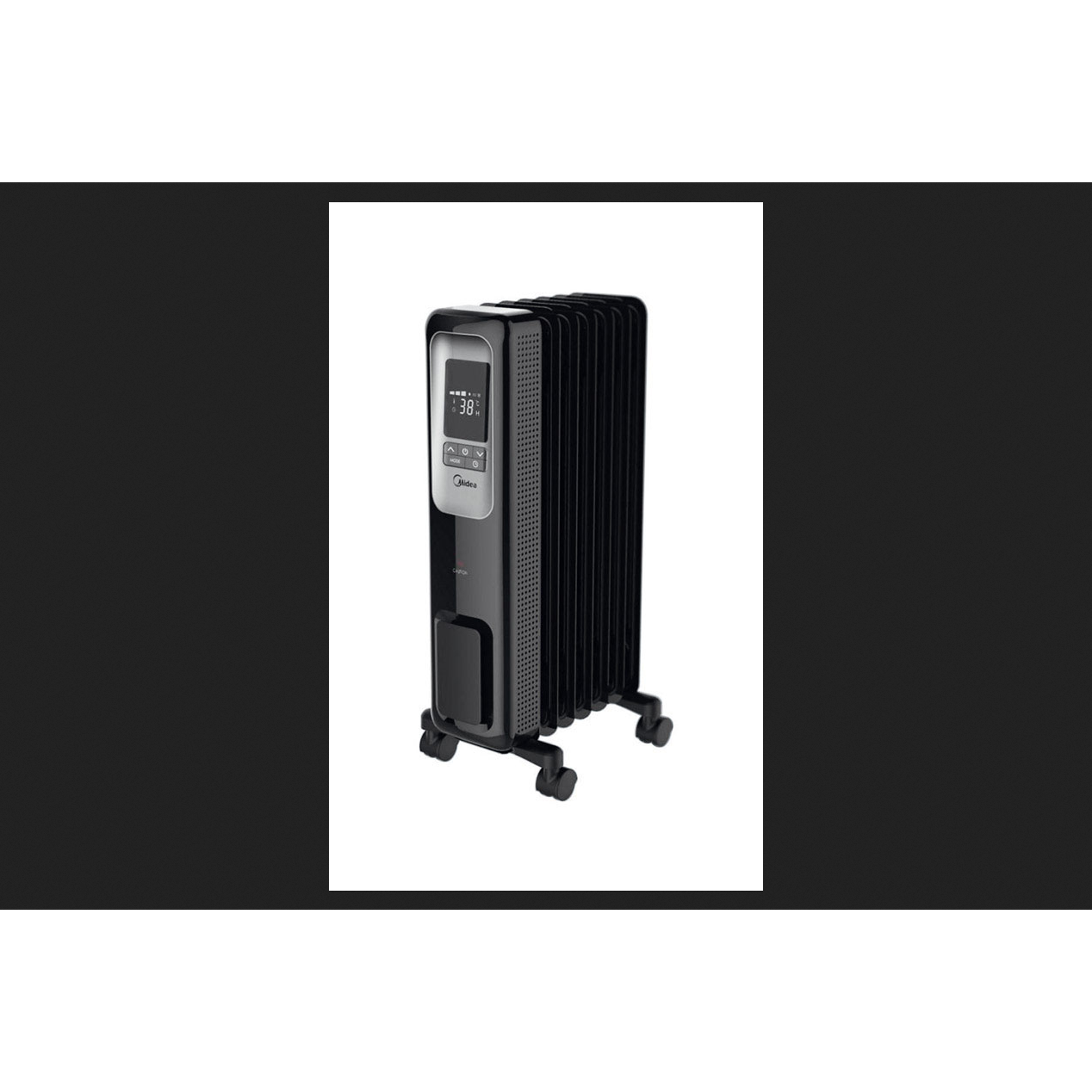 Pelonis Electric Oil Filled Radiant Thermostat Heater With Remote Control Black Walmart Com Walmart Com