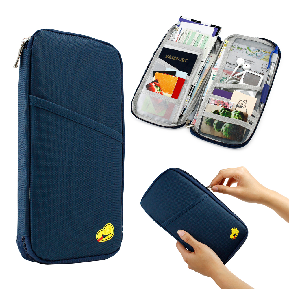 Travel Trip Passport Credit ID Card Cash Organizer Wallet Purse ...