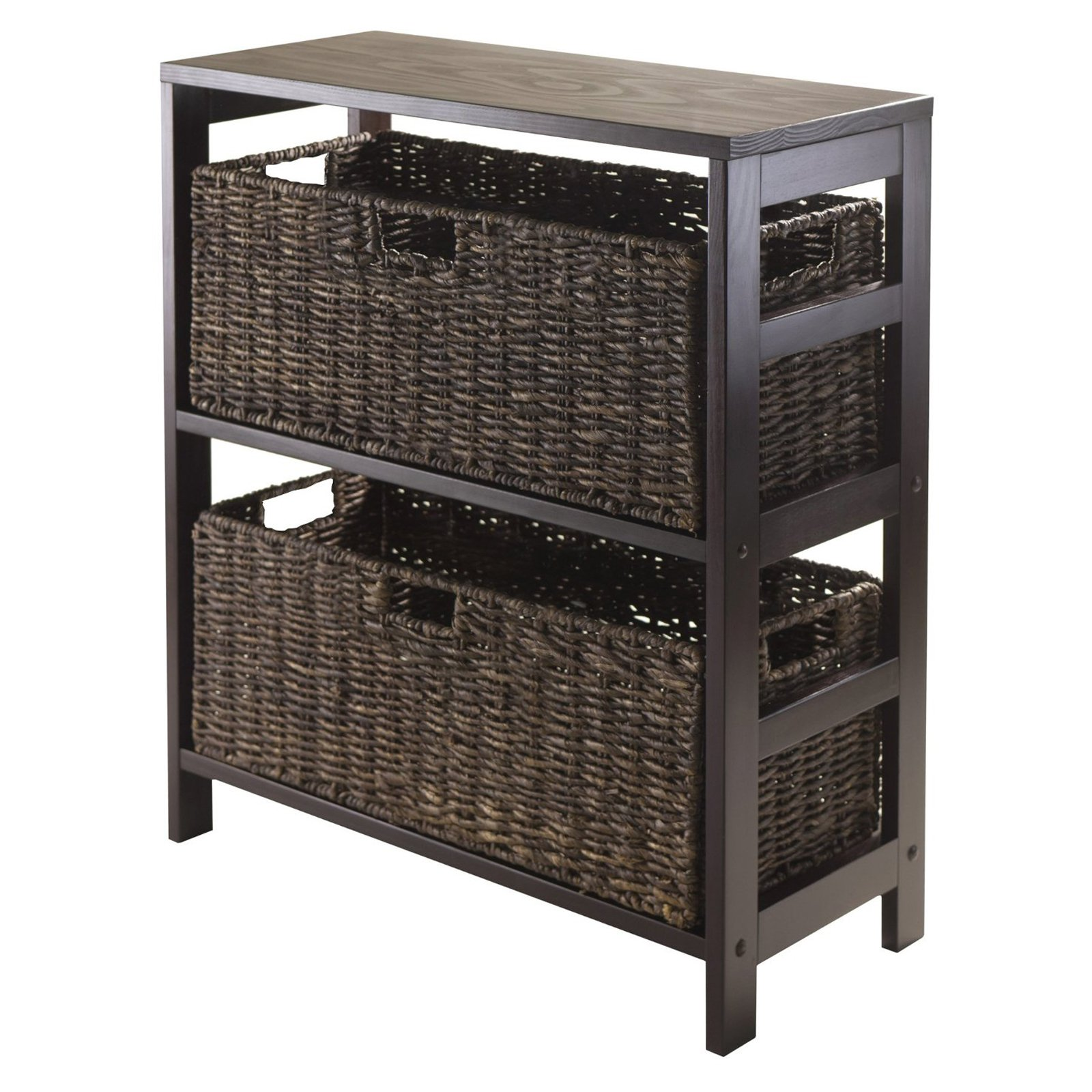 Winsome Granville 3 Piece Storage Shelf with 2 Large Baskets