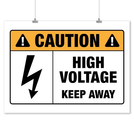 High Voltage - Lantern Press Artwork (9x12 Art Print, Wall Decor Travel Poster)
