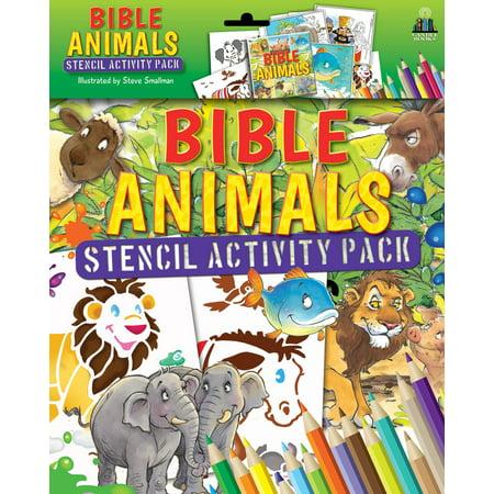 Bible Animals Stencil Activity Pack Stencil Activity Book