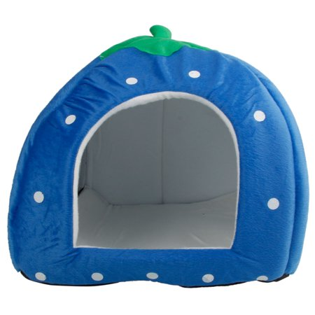 Zimtown Soft Strawberry Pet Dog Cat Bed House Kennel Doggy Warm Cushion Basket S M