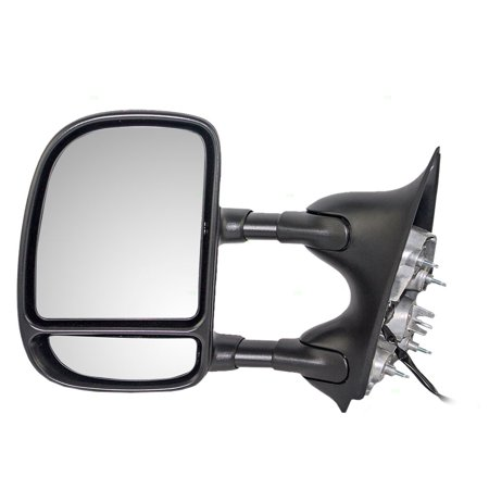 BROCK Telescopic Tow Power Side View Mirror with Dual Arms Drivers Replacement for Ford Super Duty Pickup Truck Excursion SUV 3C3Z 17683 DAA