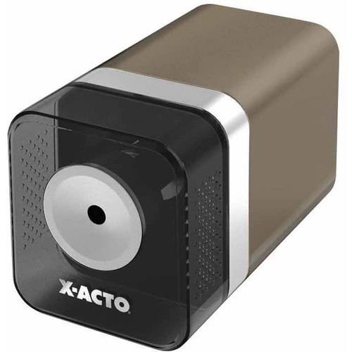 """X-ACTO Power3 1700 Automatic Electric Polystyrene Pencil Sharpener, 3.5"""" x 8.12"""" x 4"""", Putty"""