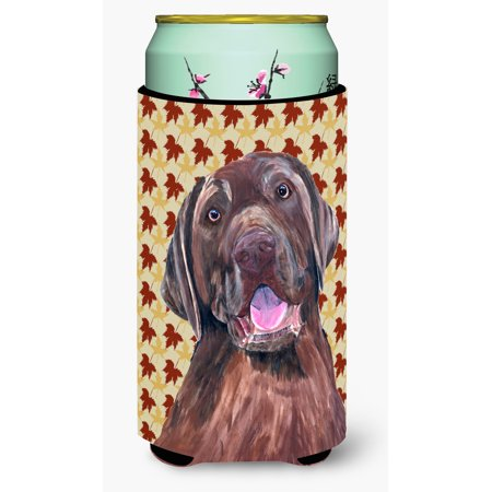 Labrador Chocolate Fall Leaves Portrait Ultra Beverage Insulators for slim cans SC9224MUK