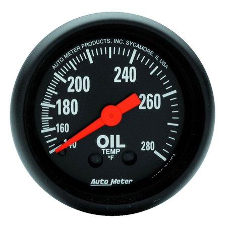 AutoMeter 2609 Z-Series Mechanical Oil Temperature Gauge 2 1/16