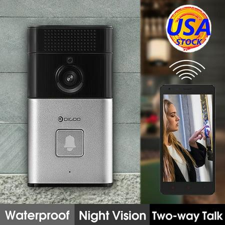 DIGOO Wireless Video DoorBell with Camera 720P Night Vision Security Camera &Two-way Talk Video Phone Intercom & Free APP Control & View Video Playback ()