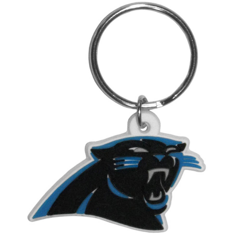 NFL Carolina Panthers Flex Laser Cut Rubber Keychain