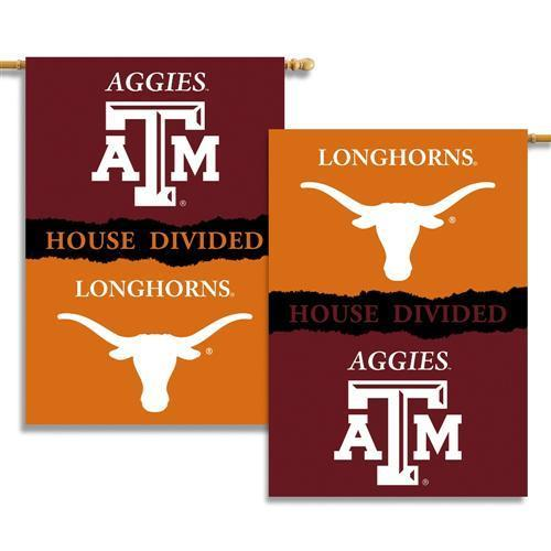 Bsi Products  Inc  Texas   Texas A   M 2 Sided 28   X 40   Banner W  Pole Sleeve House Divided   Collegiate   College   Ncaa Licensed  96340