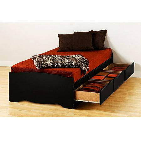 Prepac Brisbane Twin Platform Storage Bed,