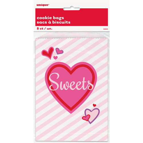 Sweet Cookie Valentine Treat Bags, 8-Count