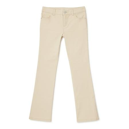 Wonder Nation Girls Kid Tough Bootcut Jeans, Size 4-18 & Plus