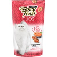 Fancy Feast Cat Treats Duos Salmon Flavor With Accents of Parsley - 2.1 oz. Pouch