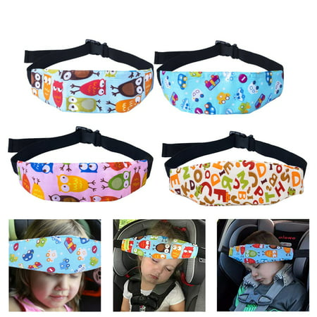 Adjustable Baby Car Seat Head Support Safety Baby Kids Stroller Car Seat Sleep Nap Aid Head Support Holder Belt Band  4 Pattern