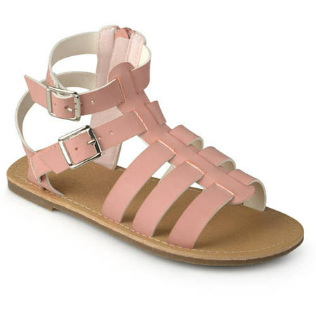 220242d7853a0 Brinley Co. Kids Little Girls' Faux Leather Buckle Gladiator Sandals