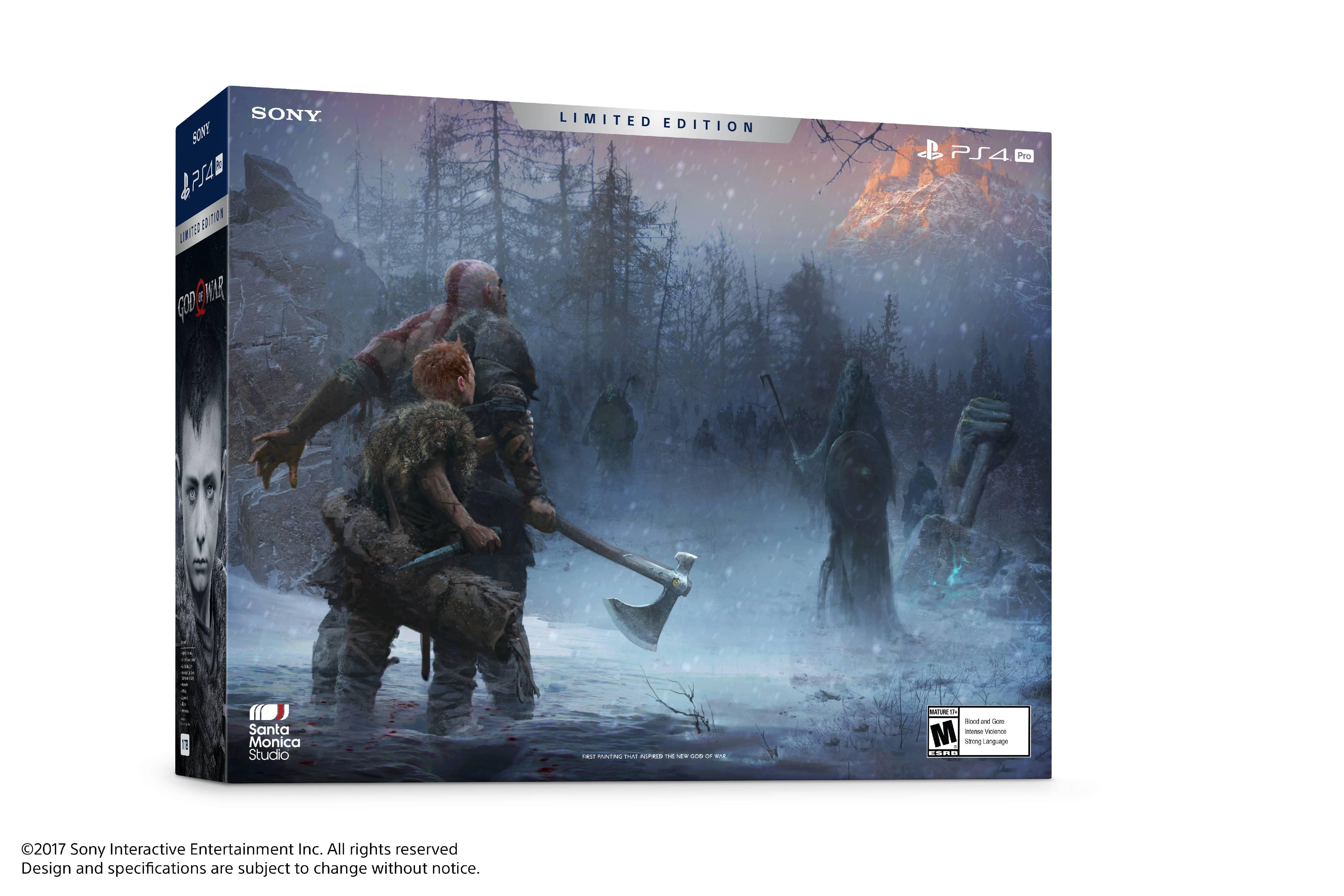 Sony Playstation 4 Pro 1tb God Of War Bundle Cuh 7115b