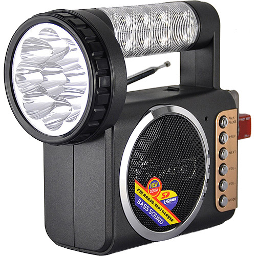 Click here to buy QFX Radio with USB and Flashlight by QFX.