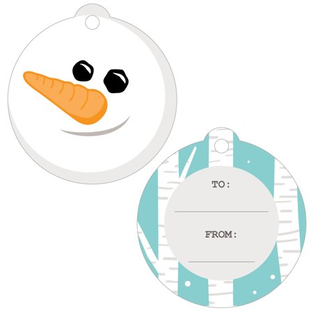 Let It Snow - Snowman - Holiday & Christmas Favor Gift Tags - Set of - Snowman Favors