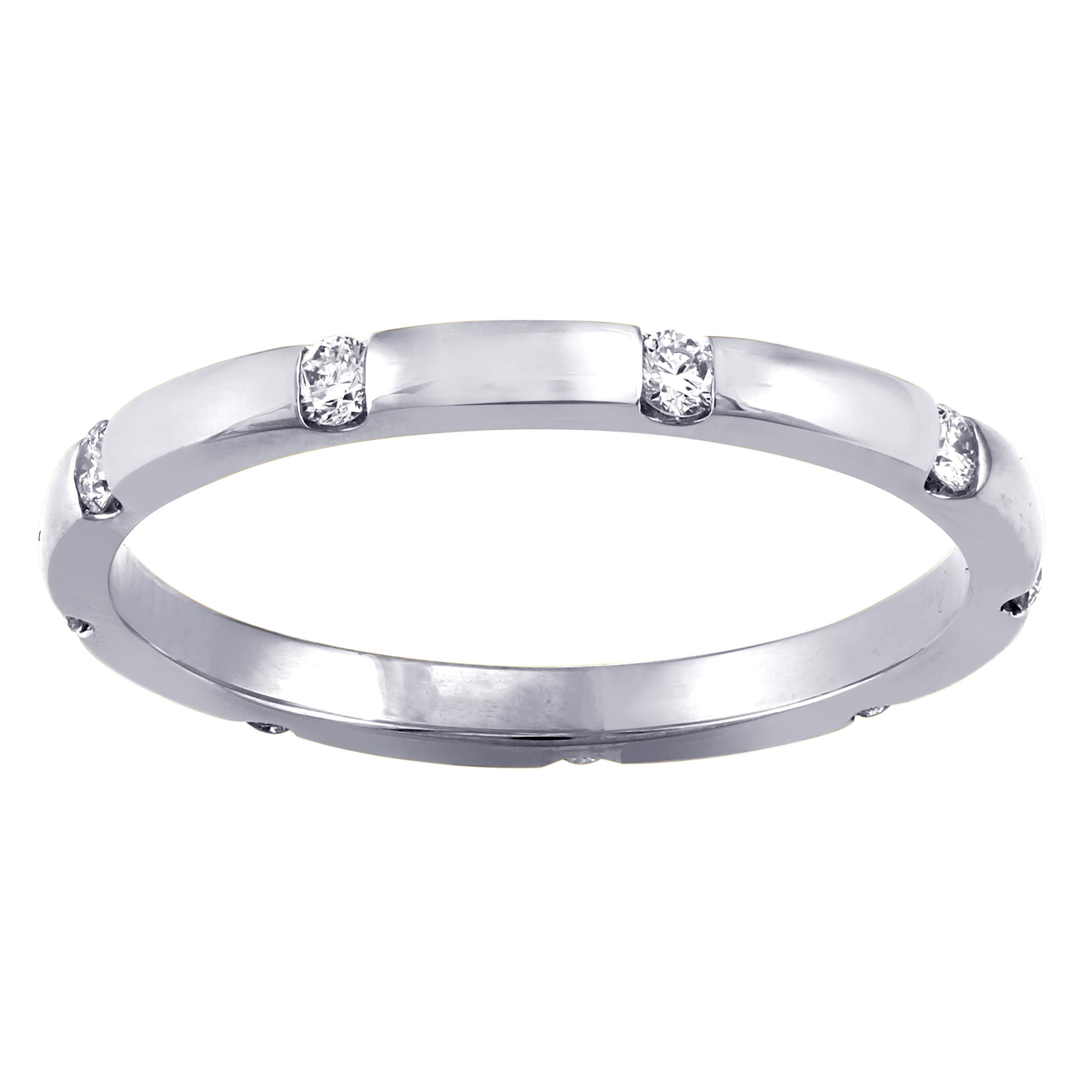Hollywood Hills Jewelers 1/4 carat T.W. Diamond Eternity ...