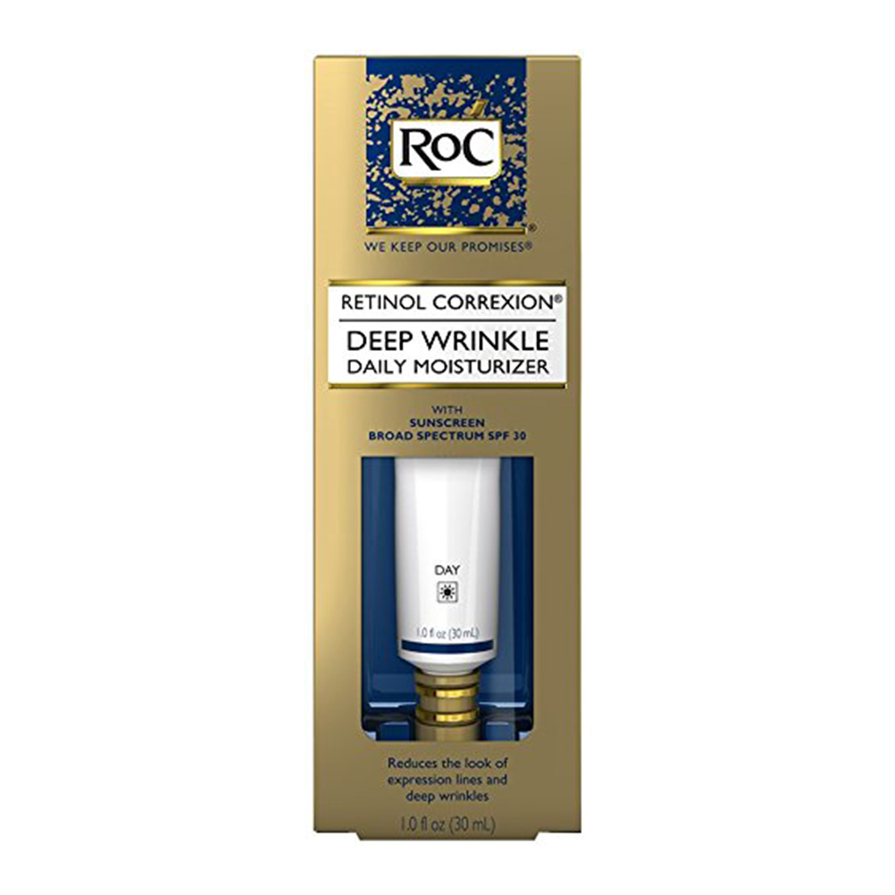 Roc Retinol Correxion Deep Wrinkle Daily Moisturizer With Vitamin E, Spf 30 - 1 Oz, 2 Pack