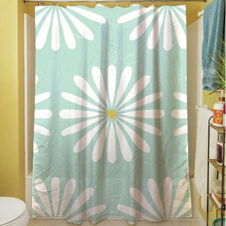 Manual Woodworkers & Weavers Jar of Sunshine Vintage Daisy Shower Curtain