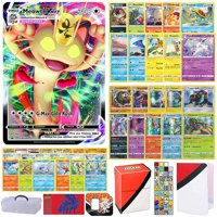Totem World Sword and Shield Pokemon VMAX Card Ultra Rare Guaranteed with 10 Rares, 10 Foil Holo, 40 Regular Cards, Totem Deck Box & Mini Binder Collectors Album in a Storage Case/Tin or Box