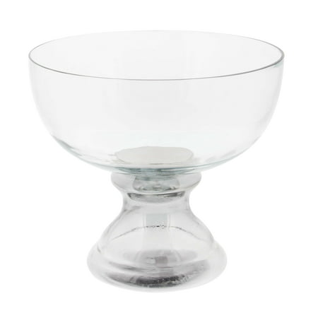 Decmode Contemporary 8 X 9 Inch Clear Gl Pedestal Bowl