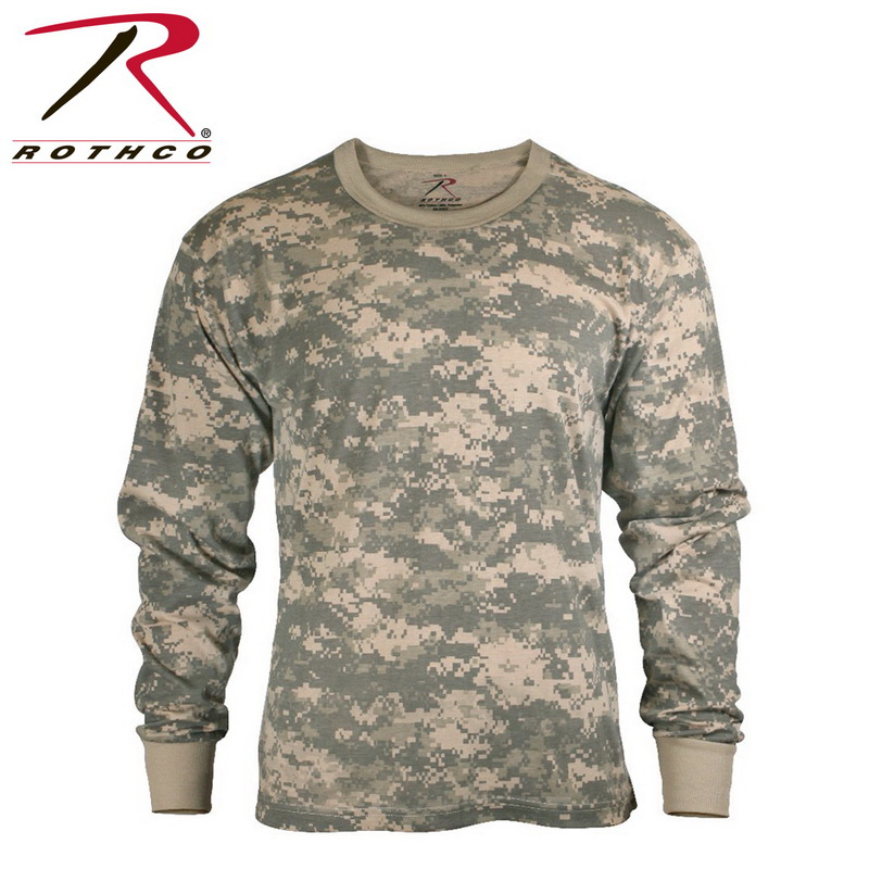 (Price EA)Rothco 5494 Long Sleeve Digital Camo T-Shirts-ACU Digital Camo-4XL by Rothco