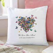 Personalized Hearts a Flutter Throw Pillow