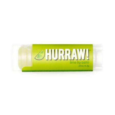 Hurraw! Lip Balm, Lime, 0.15 Oz