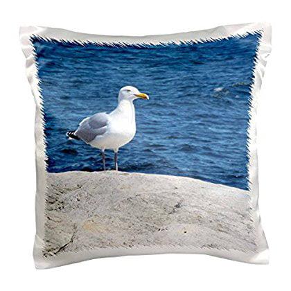 3dRose Seagull Ocean Scene, Pillow Case, 16 by 16-inch by 3dRose