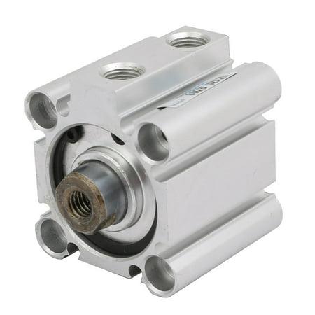 Unique Bargains CQ2B32-20 32mm Bore Pneumatic Compact Thin Air Cylinder Silver Tone - image 2 de 2