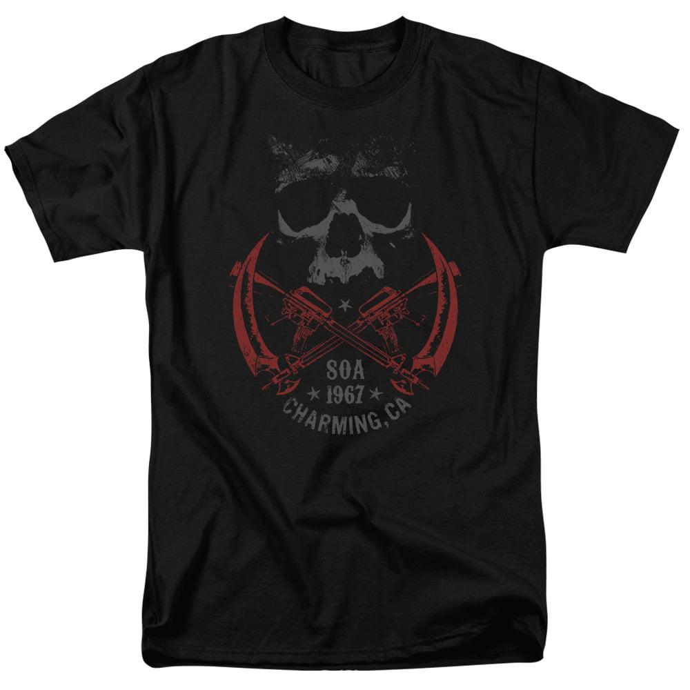 Sons Of Anarchy Cross Guns Mens Short Sleeve Shirt