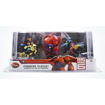 Disney Store Big Hero 6 Play Set Figurine Cake Topper 6pcs New with Box