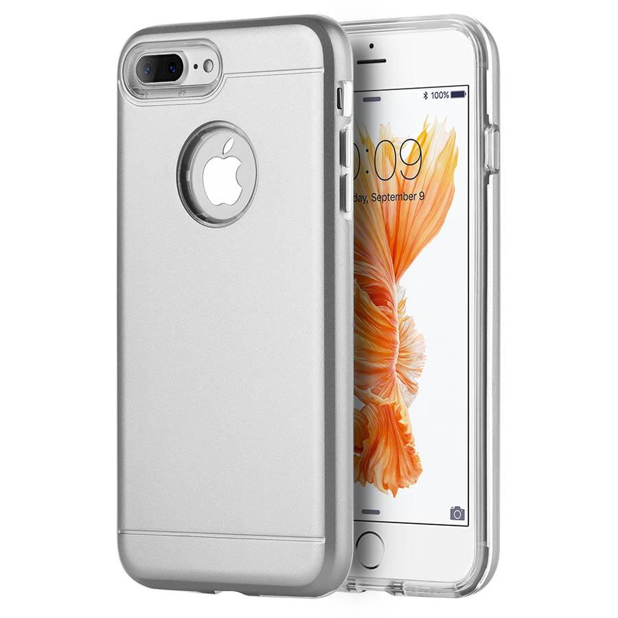 Apple iPhone 7 Plus Comfort Hybrid Case, Silver