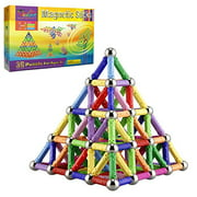 145 Pieces Magnetic Building Sticks Building Blocks Set, Magnet Educational Toys Magnetic Blocks Sticks Stacking Toys Set For Ki