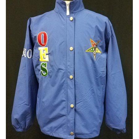 Buffalo Dallas Eastern Star Ladies All Weather Windbreaker Jacket [Blue - XS]